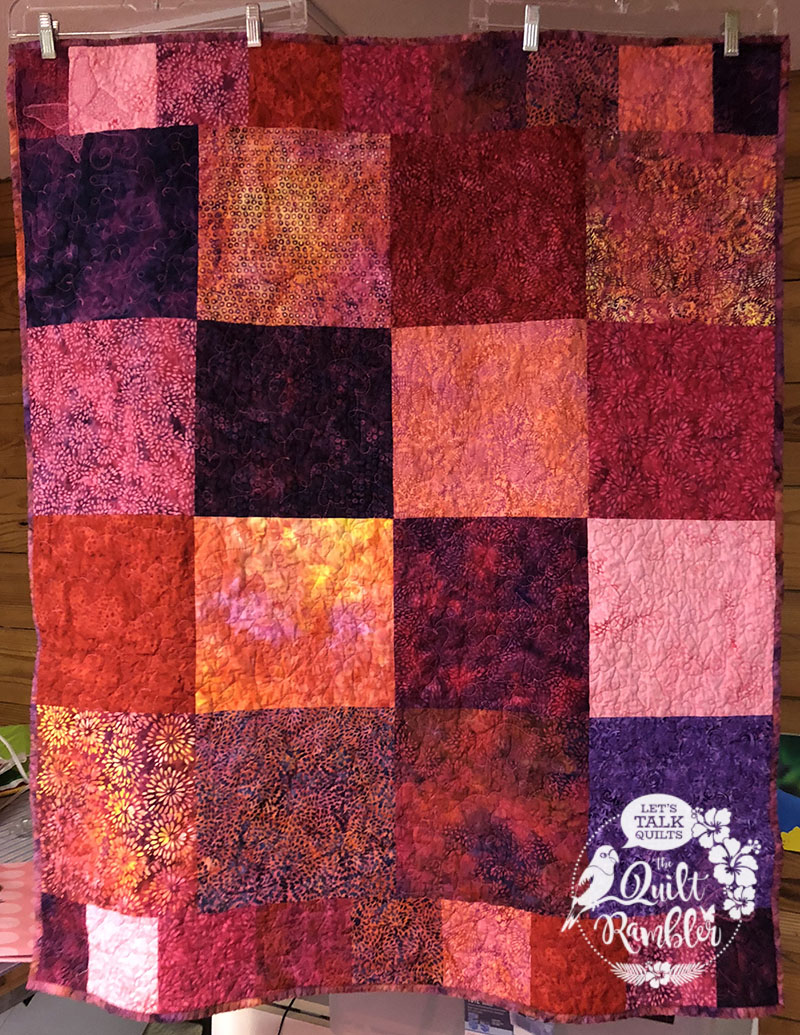 Baby quilt made from Island Batik precut squares by The Quilt Rambler