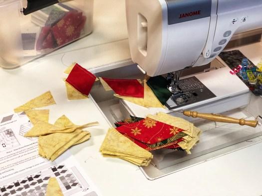 sewing diamond rectangles