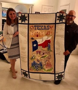 Texas Autograph Quilt made for Scotland Missionaries by The Quilt Rambler