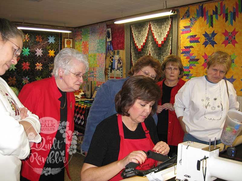 Karen Overton, longarm quilter, Quilts 'N Kaboodle now The Quilt Rambler