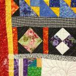blocks from For Elise are included in My Colorful Past Quilt by The Quilt Rambler