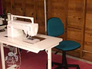 Less is More - basics of a machine, table and chair to be able to sew