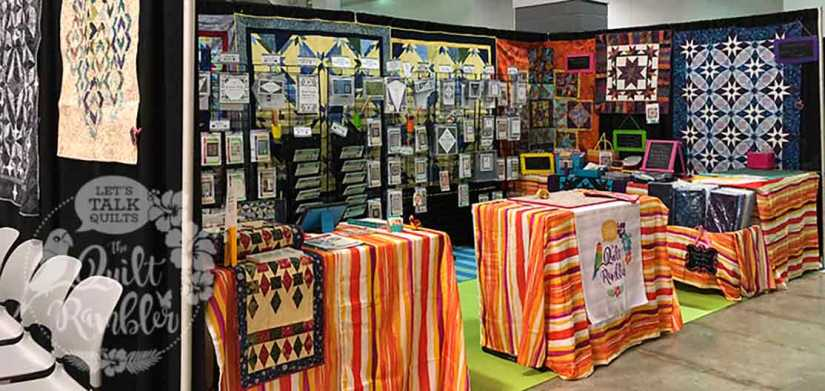 The Quilt Rambler and Studio 180 Design products at the Beaumont Quilt Show 2018