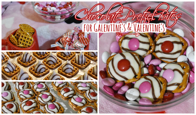 Valentine's Day chocolate pretzel bites