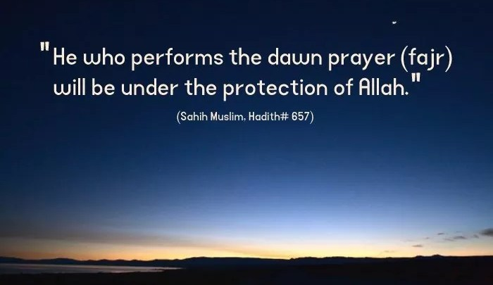 Importance of Fajr prayer