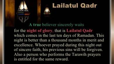 The importance of Lailatul Qadr