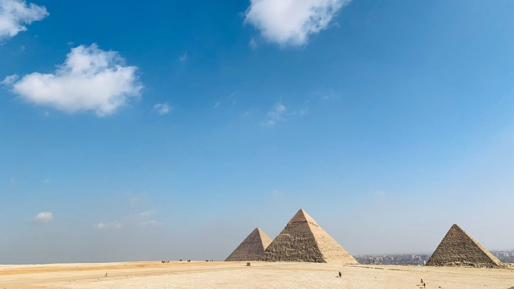three great pyramid under the blue sky