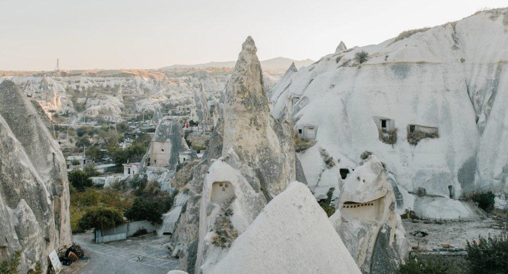 spacious rocky terrain with white stones