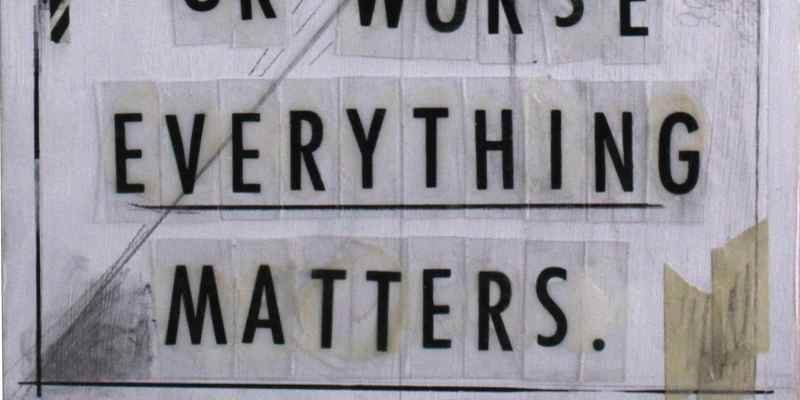 "A close-up of the full Grit Networkism showing ""Everything Matters"" text"