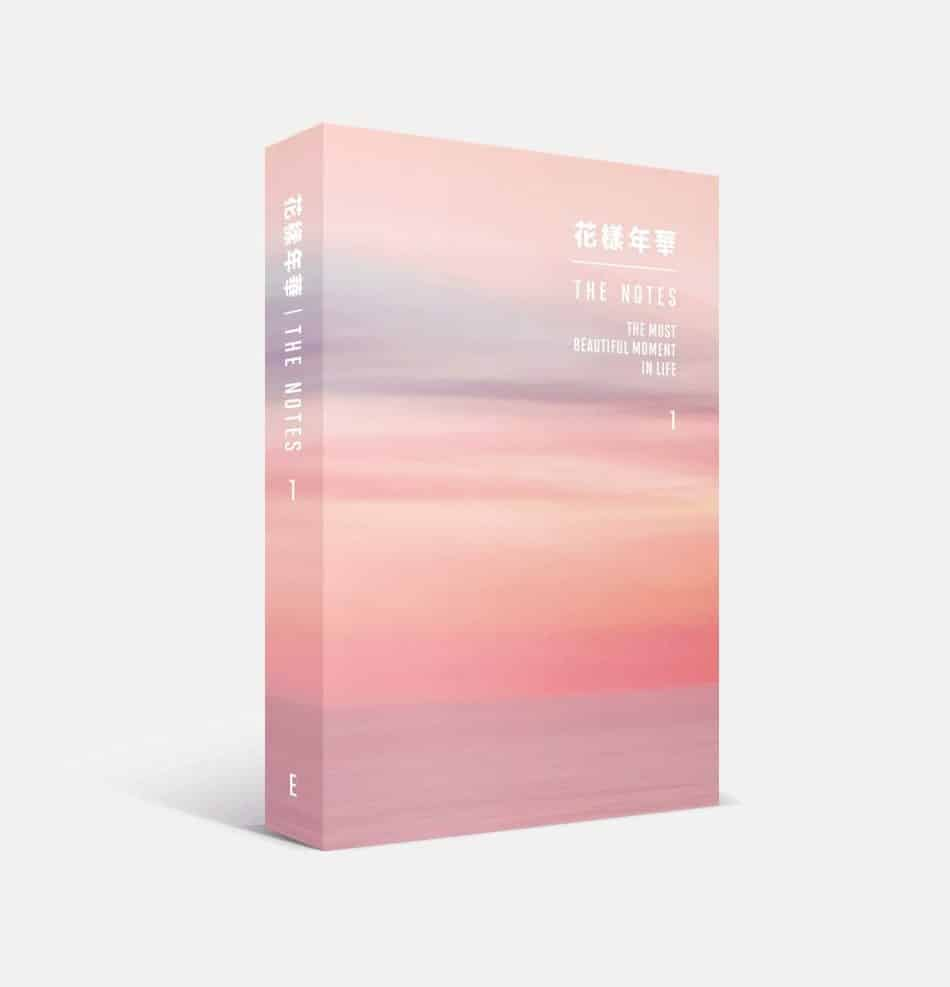 Image of the cover of HYYH THE NOTES 2 THE MOST BEAUTIFUL MOMENT IN LIFE, which pictures a pink and purple sky