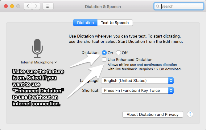 Use Dictation on Mac 3