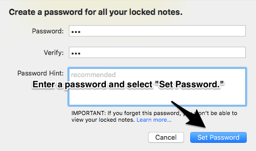 How to Password Protect Notes on Mac OS X 3