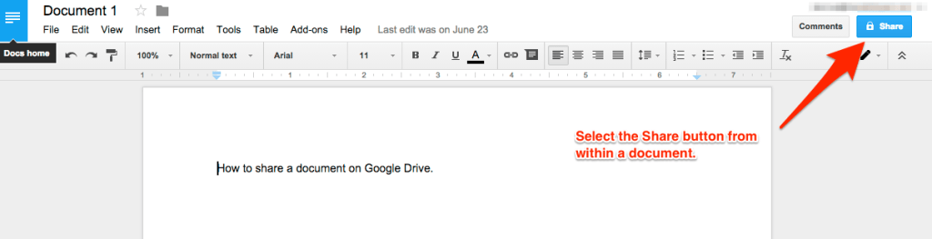 How to Share Documents Google Drive 2