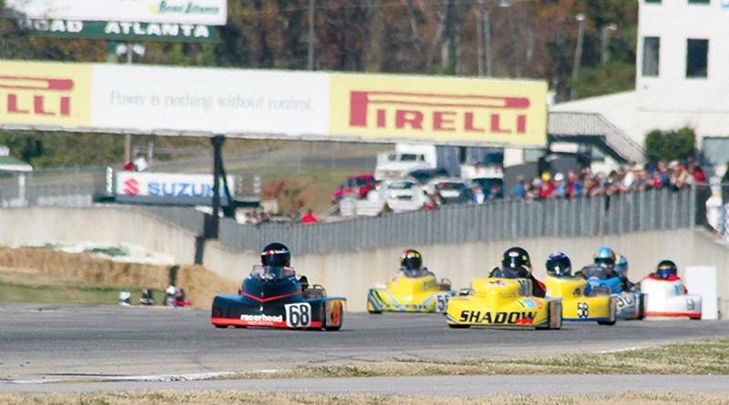 racerhead driving 100mph kart at road atlanta