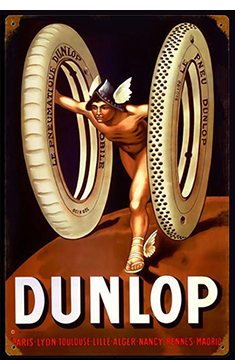 dunlop tires promotional sign reproduction