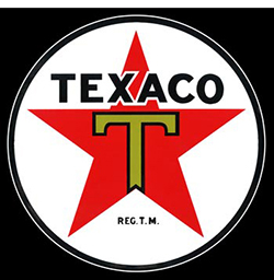 texaco star ceramic sign by garageart.com