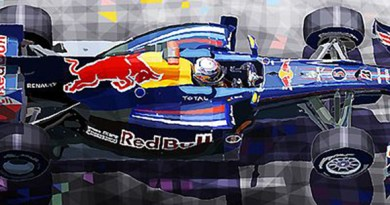 2010 Red Bull RB6 Vettel/Motorsport art by Yuriy Shevchuk