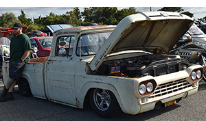 rat rod cars and coffee at oak beach