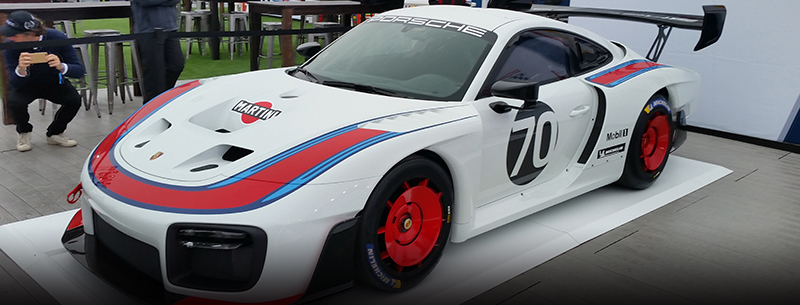 new Martini Porsche 935 at Porsche Rennsport Reunion VI