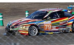 jeff koons bmw art car with flat tire