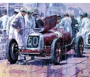 looking into it-- motorsport art by john ketchell