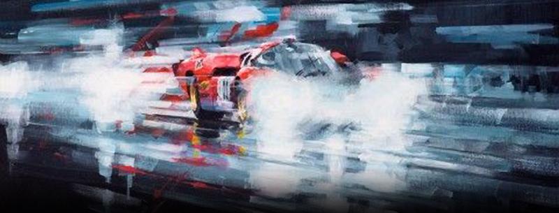 night vision-- motorsport art by john ketchell