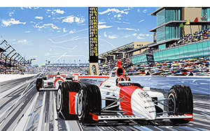 Back Home Again motrsport art by randy owens –Indy cars