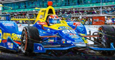 Rossi Indy -motorsport art by Randy Owens