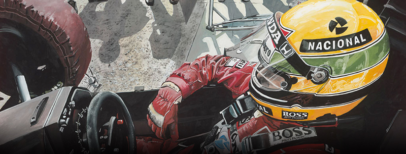 Perfection 1 -Ayrton Senna Motorsport art by Marijan Pecar