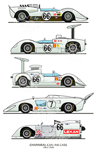 chaparral can-am motorsport art by steve petrosky