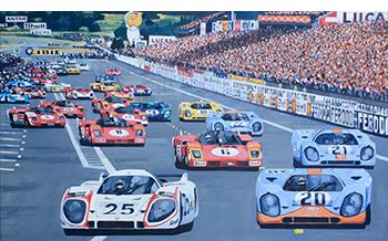 LeMans 1970 motorsport art by Simon Ward
