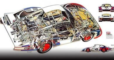 porsche 935 cutaway