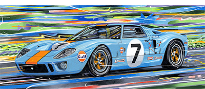 Hobbs GT40 motorsport art by randy owens