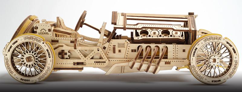 grandprix car mechanical models by UGears