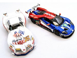 Red, white & blue 1/43 models bizarre corvette and tsm ford gt