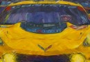 Corvette racing art by Roger Warrick
