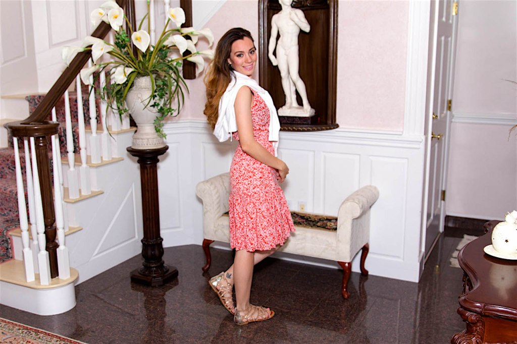 boston fashion blogger spring dress