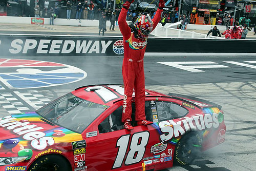 Kyle Busch victorious