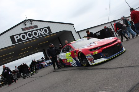 The No. 95 Chevrolet is rolled out of the garage ahead of the 2018 Pocono 400. (Tyler Head | The Racing Experts)