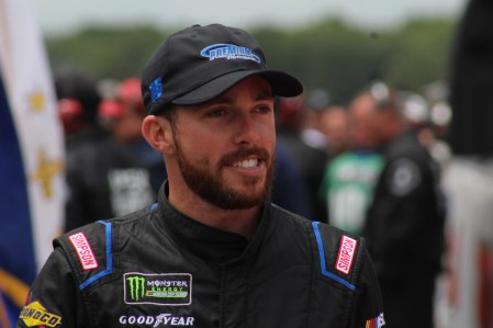 Ross Chastain walks during driver introductions for the 2018 Pocono 400. (Tyler Head | The Racing Experts)