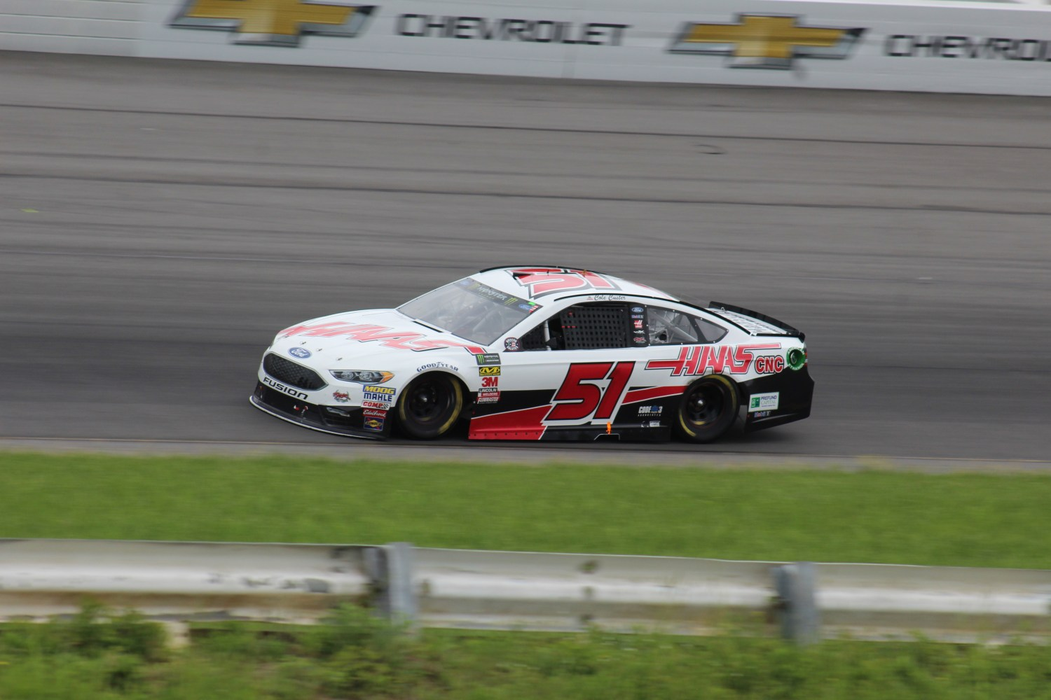 Cole Custer races during the 2018 Pocono 400. (Tyler Head   The Racing Experts)