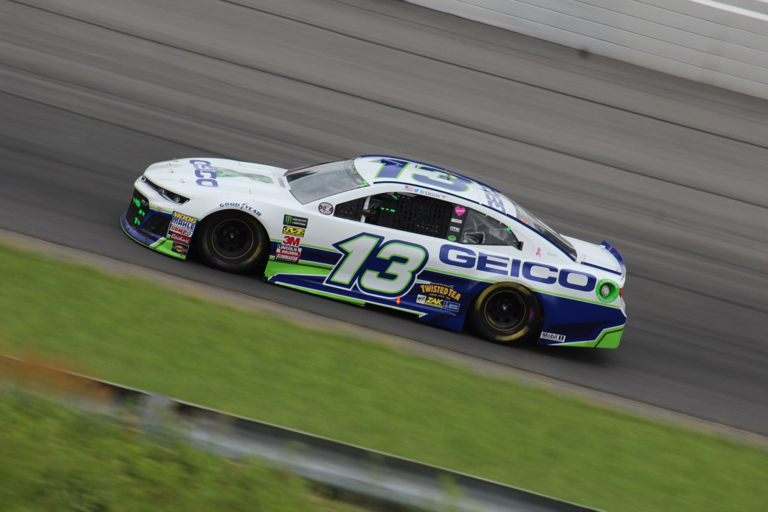 Ty Dillon races during the 2018 Pocono 400. (Tyler Head   The Racing Experts)