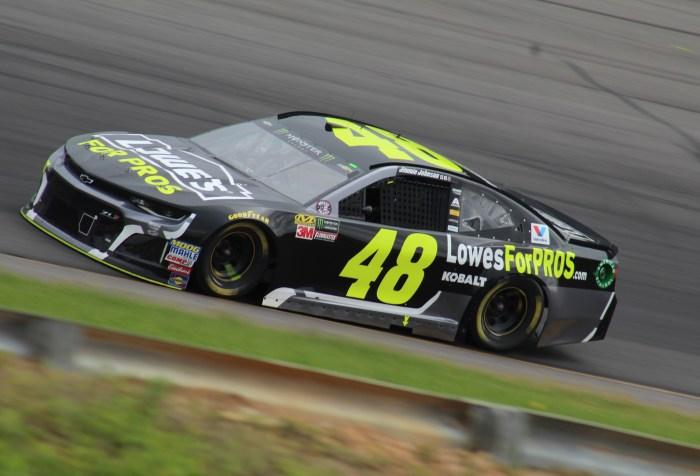 Jimmie Johnson races at Pocono
