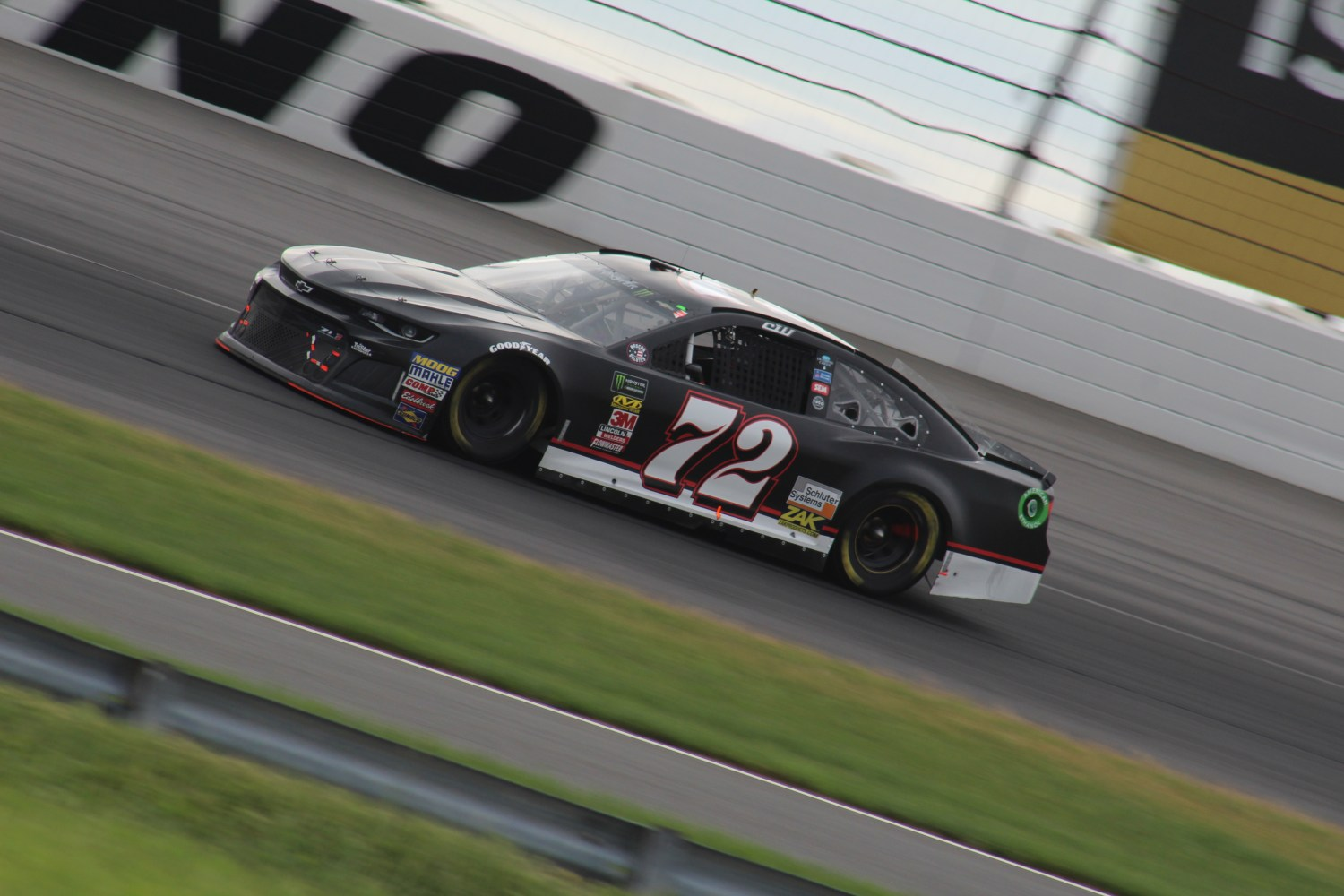 Cole Whitt races during the 2018 Pocono 400. (Tyler Head | The Racing Experts)