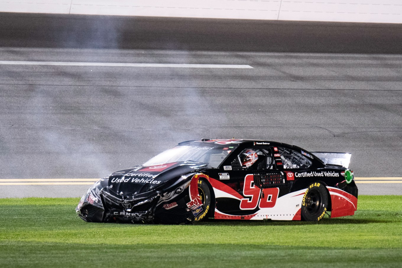 Daniel Suarez 96 crash Daytona 2020