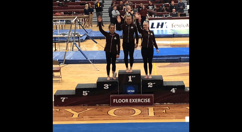 UWL Gymnastics was victorious Firday