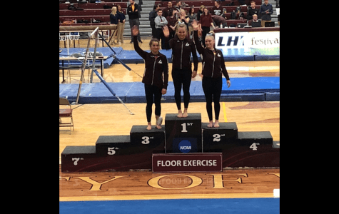 UWL Gymnastics Pull Through in Annual Triangular