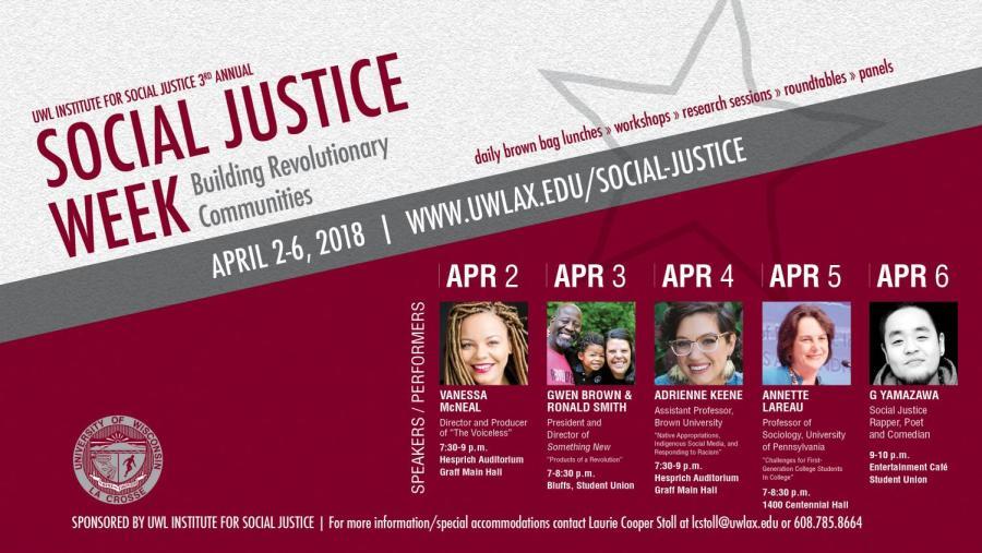 UW-La Crosse's 3rd Annual Social Justice Week