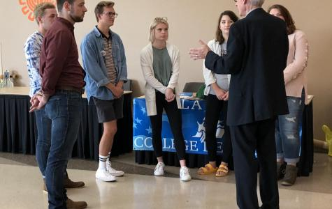 Gubernatorial candidate Tony Evers visits UWL