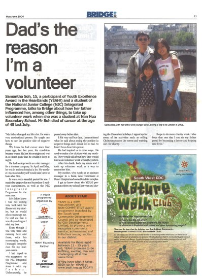 Dad's the reason I'm a volunteer - Interview
